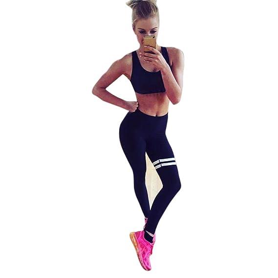 Yusealia Mujeres Ropa Yoga Mujer Deportivas Pantalones Trousers Sólido Leggings  Polainas para Mujer EláSticos Pilates Fitness Atlético Pantalones ... d6816344d4b1