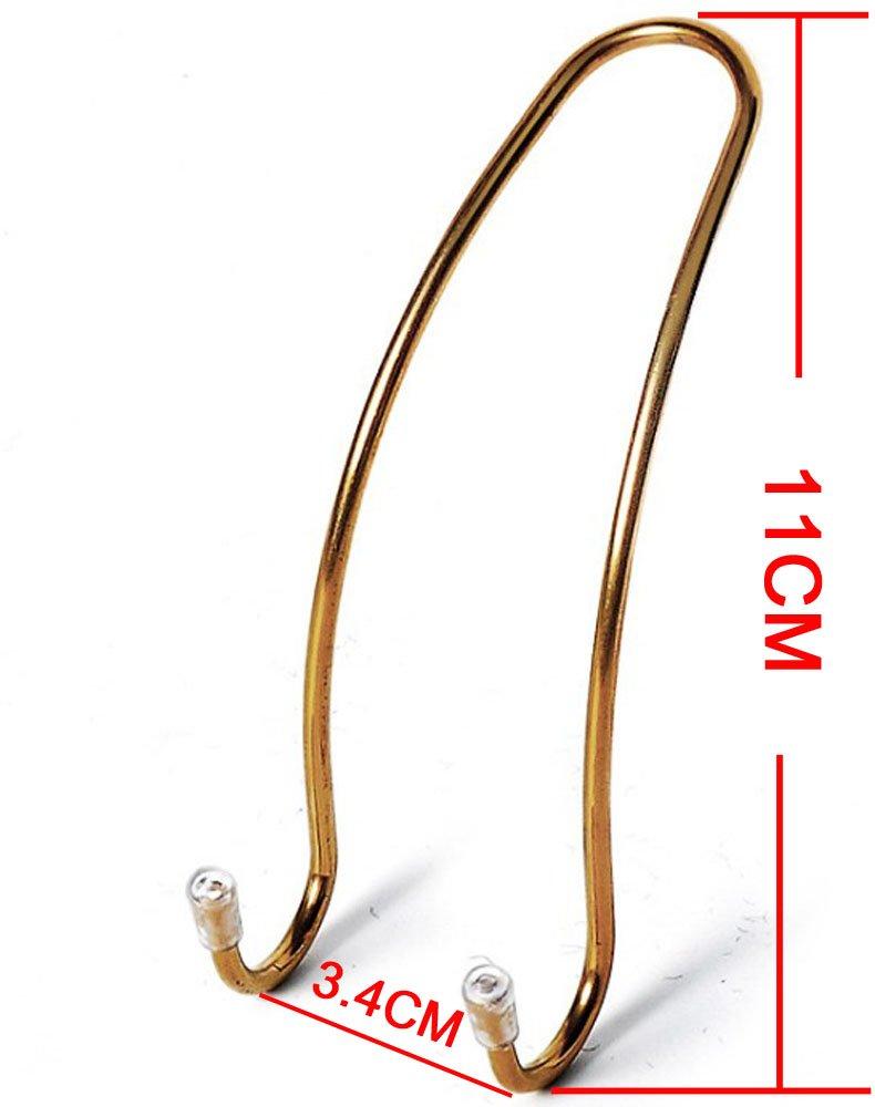 GCA Car Seat Holder Coat Clothes Hook Back Purse Bag Hanging Hanger Organizer Silver 2 pack