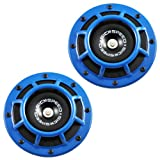 2Pc Blue Super Loud Compact Electric Blast Tone Horn For ...