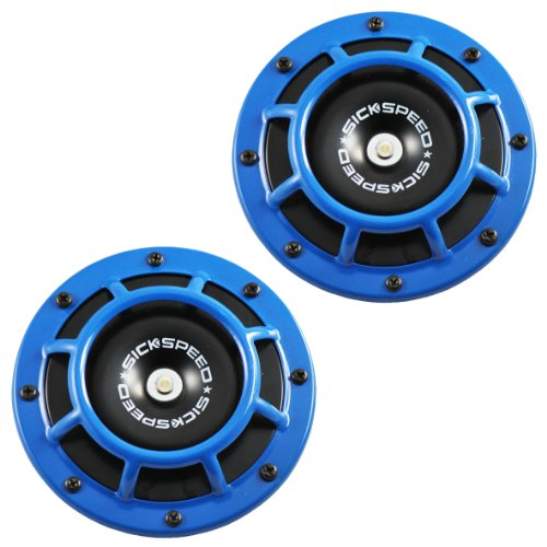 Mercedes Benz Horn (2Pc Blue Super Loud Compact Electric Blast Tone Horn For Car/Truck/Suv 12V P1 for Mercedes-Benz CLA45 AMG)