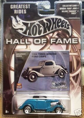 Hot Wheels 2002 Hall Of Fame Greatest Rides 1:64 Scale 35th Anniversary Green 1934 Three-Window Ford Coupe Die Cast Car