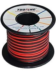 TUOFENG Cable de calibre 18, 20 m Cable de conexión de aislamiento de silicona súper flexible 10 m Negro y 10 m Rojo 2 cables separados Cable de cobre estañado