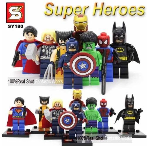 Mini Figures Star Wars Marvel Avengers Toy Man Keyrings Dc Super Fits With Lego Superheroes Avengers   8 Mini