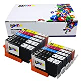 HIINK 10 Pack 564XL ink cartirdges Replacement For HP 564XL 564 High Yield Ink Cartridges Used in HP Photosmart 5520 6520 5510 6510 HP Officejet 4620 HP Deskjet 3520 Printer(4BK 2C 2M 2Y,10-Pack)
