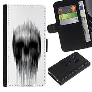 All Phone Most Case / Oferta Especial Cáscara Funda de cuero Monedero Cubierta de proteccion Caso / Wallet Case for Samsung Galaxy S3 MINI 8190 // White Black Rain Deep Dark Meaning