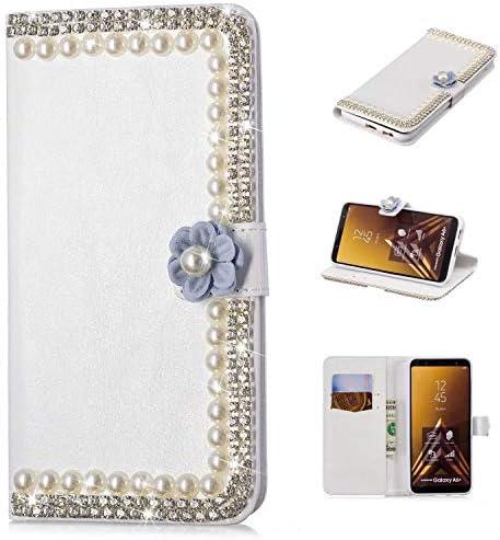 Galaxy A6 Plus 手帳 ケース, Zeebox® 柔軟 PUレザーウォレット電話ケース 新品 可愛い 人気 スマホケース 衝撃吸収 全面保護 ケース スタンド機能 カード収納 マグネット開閉式 Galaxy A6 Plus 用 Case Cover, 花-1