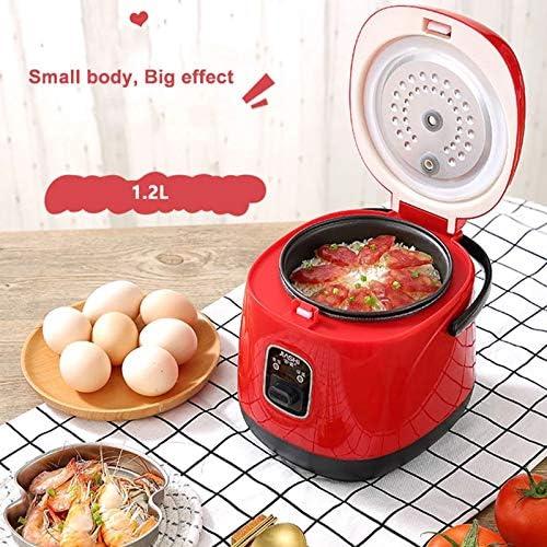 JIAXIAO Ship Mini cuiseur à Riz 1.2L, Petit cuiseur à Riz, cuiseur à Riz Portable 3 Tasses, adapté pour 1-2 Personnes - pour la Cuisson de la Soupe, du Riz
