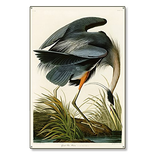 Large Metal Wall Art Decor Sign | The Blue Heron Wildlife Nature