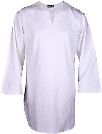 BARES Renaissance - Camisa de pirata de estilo casual para hombre, talla grande, color blanco: Amazon.es: Ropa y accesorios