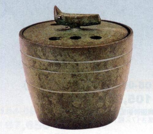 香炉 蒼窮 (そうきゅう) 麻生三郎作 青銅 (ブロンズ) 製 香付 桐箱入り (高岡銅器)