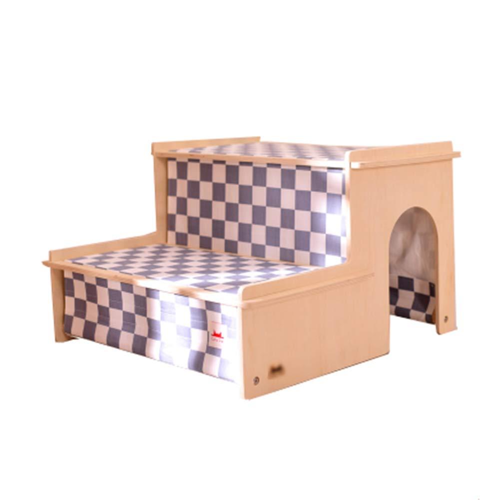 Pet Portatile per Animali Domestici Domestici Domestici 2 gradini per Animali Domestici, Scale per Cani da Salire sul Letto Alto per Gatti e Animali Domestici Fino a 55 libbre (colore   Style-1) 29cead
