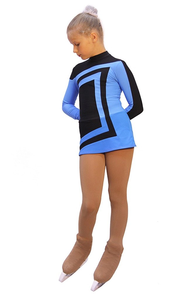IceDress - Figure Skating Dress - Avangard (Black with Blue)(AL)
