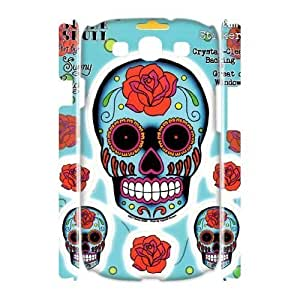 Custom BIG Rose Sugar Skull Stickers Case for Samsung Galaxy S3 I9300 with Tattoo Art by Sunny yxuan_3483751 at xuanz