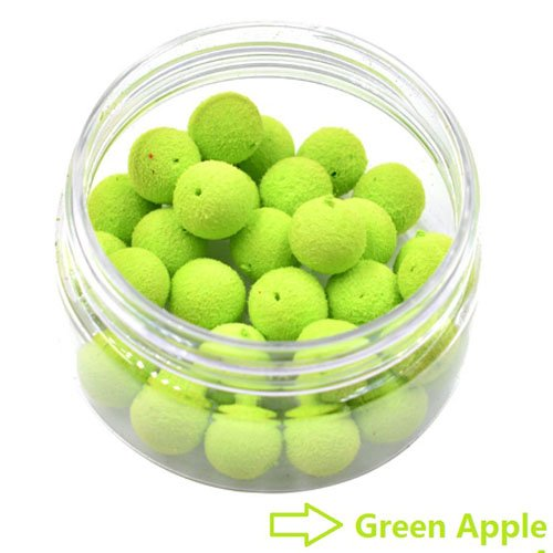 30pcs/Box 12mm Smell Carp Fishing Bait Boilies Eggs / 4 Flavors Floating Ball Beads Feeder Artificial Carp Baits Lure/ Hair Rig (Artificial Baits)