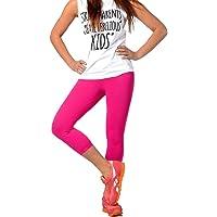 FUNGO Leggings 3/4 Lunghezza Leggins Da Donna Yoga Fitness Palestra Pantaloni F34