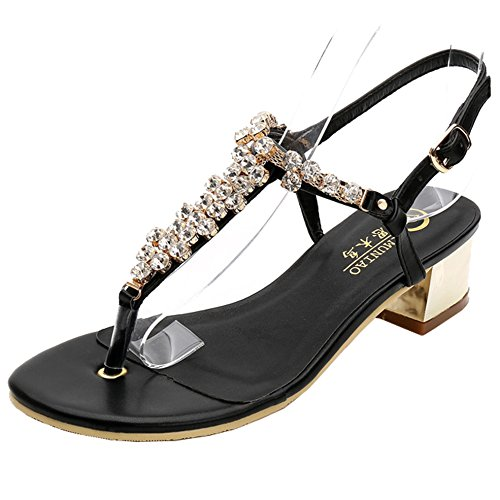 SUNAVY - Zapatos con tacón Mujer negro (schwarz 2)