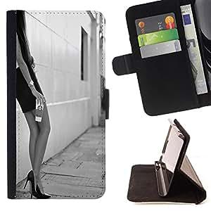 Dragon Case- Mappen-Kasten-Prima caja de la PU billetera de cuero con ranuras para tarjetas, efectivo Compartimiento desmontable y correa para la mu?eca FOR Apple iPhone 6 6S 4.7 - Sexy Girl