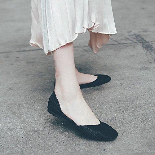 Carré Profonde Sauvage Doux Chaussures Chaussures Noir Bouche Peu DIDIDD 35 Paresseuses Ballet Décontractées Sauvage IxqXwnqSA