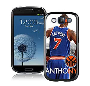 Fashionable Antiskid Cover Case For Samsung Galaxy S3 I9300 With New York Knicks Anthony 1 Black Phone Case
