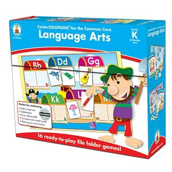 Language Arts File Folder Games (Language arts game gr k, Sold as 1 Each)