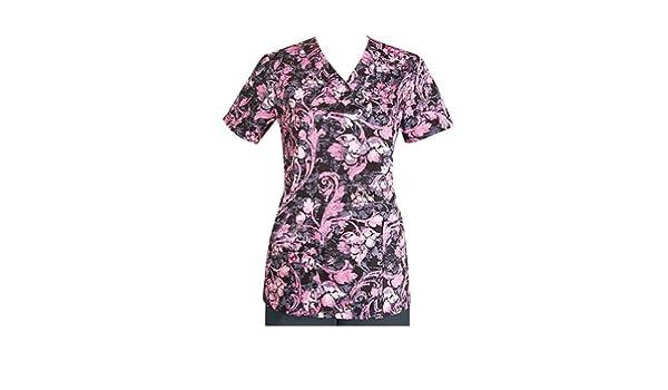 188a54454fa Amazon.com: ICU by Barco Uniforms Missy 4 Pocket Detailed V-Neck Print  Scrub Top (Simone XXX-Large): Medical Scrubs Jackets: Clothing