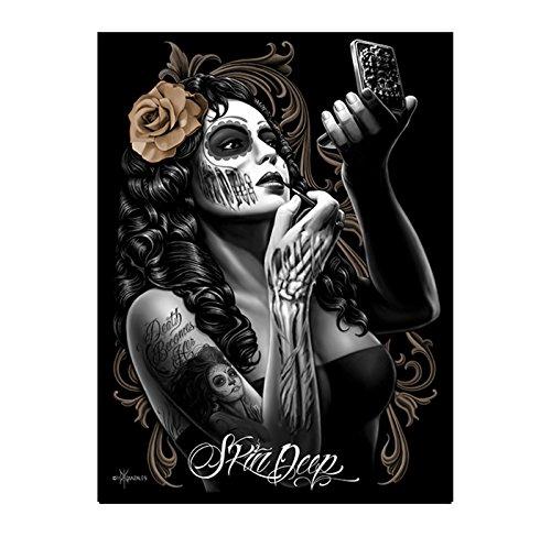 Skin Deep Sugar Skull Dia De Los Muertos Poster David Gonzales Art Dga