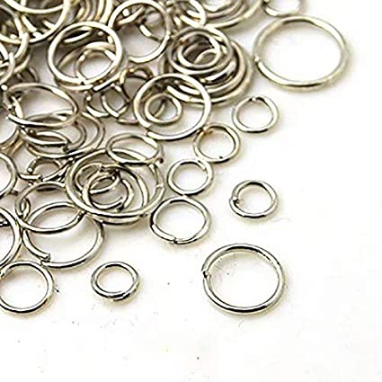 Big Bargain Store 4-10mm Mixed Iron Ring Open Ring Connection Ring Jump Ring DIY Earrings Ring Necklace Bracelet Jewelry Decorative Accessories Black 4mm-10mm