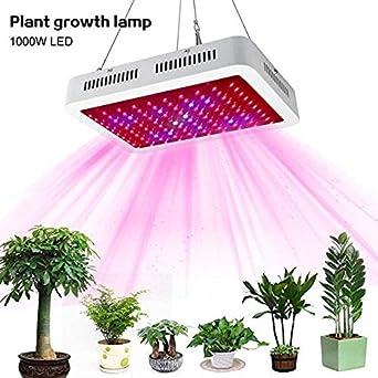 Bombillas LED de cultivo, lámpara de cultivo Panel de luz Panel de espectro completo para plantas, jardín interior, vegetales, flores, frutas, suculentas, plantas de semillero Iluminación para plantas: Amazon.es: Iluminación