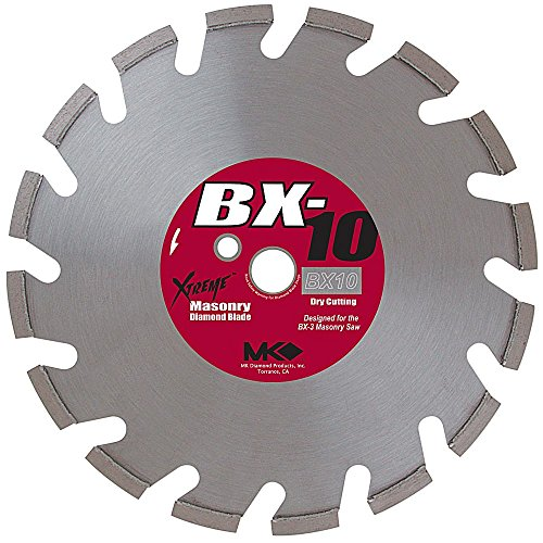 MK Diamond 157957 BX-10 14-Inch Dry Cutting Segmented Saw Blade with 1-Inch Arbor for Hard Brick