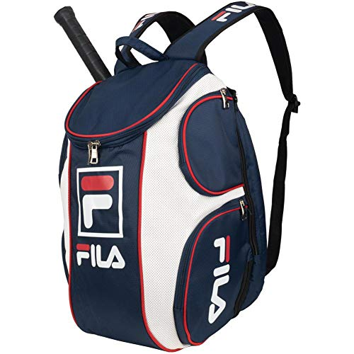 - Fila Heritage Tennis Backpack, Peacoat, One Size