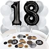 18th Milestone Birthday - Dashingly Aged to Perfection - Confetti and Balloon Party Decorations - Combo Kit