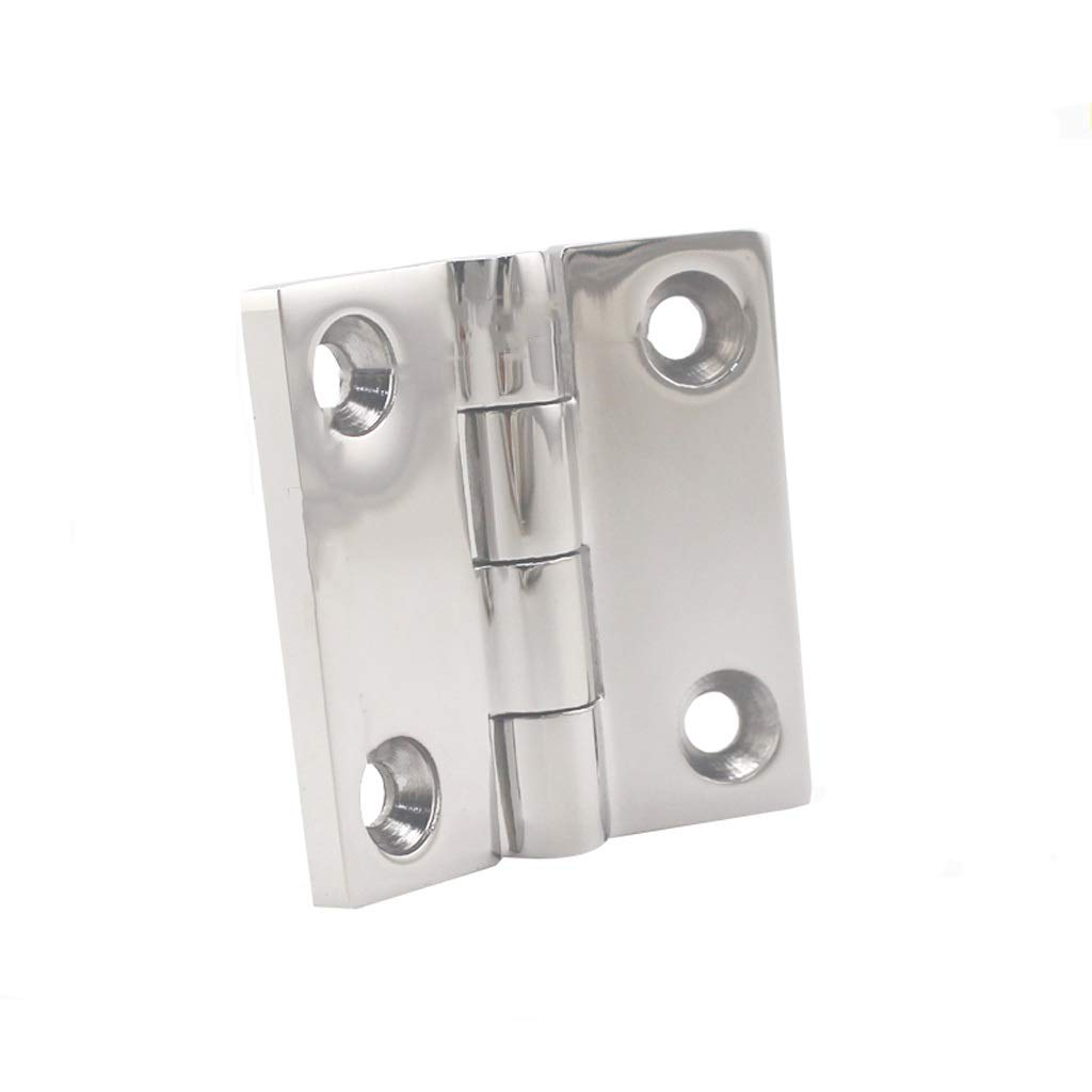 LEZDPP Hardware Hinge Hinge 316 Stainless Steel Hinged Cabinet Loose-Leaf Cabinet Door Hinge Thickening Furniture Small Hinge (Color : B, Size : 6pcs) by LEZDPP