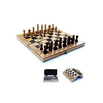 TTY Juego de ajedrez de Viaje, Juego de Mesa Plegable portátil ...