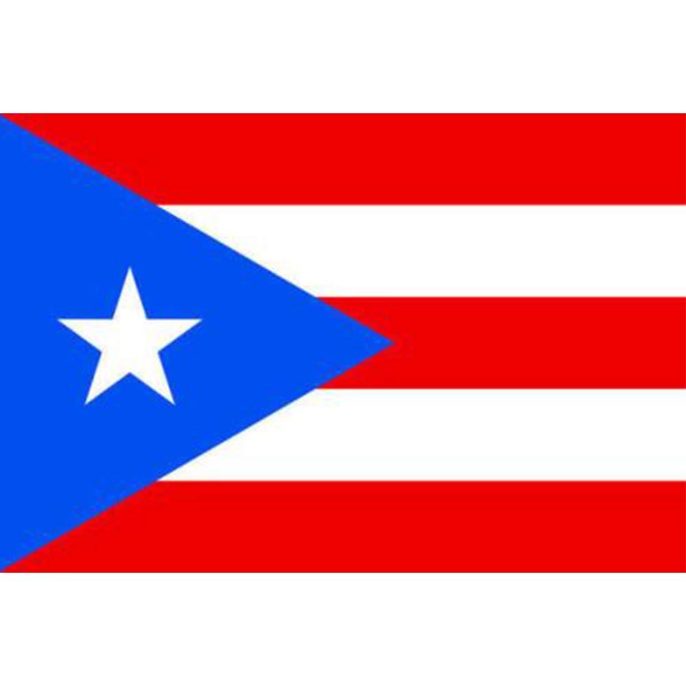 Hemore 90 * 150CM 3 * 5ft Puerto Rico Bandera de Puerto Rico 1 Paquete El Regalo Ideal para los Padres, niñ os, Amantes, Mujeres niños