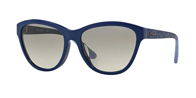 Vogue VO2993SF Sunglasses 235611-57 - Blue Frame, Grey ...