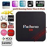 Richino Q2 Pro Android 5.1 TV Box (Amlogic S905 Kodi 16.0 Quad Core 1GB/8GB Wifi, 1080P, 4K Smart Media Player)