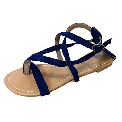 Damen Peeptoes Sommer Sandalen mit absatz Zehentrenner Wedges Riemchensandalen