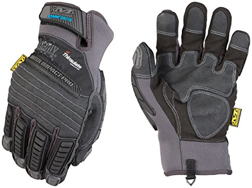 Mechanix Wear MCW-IP-009  - Impact Pro Winter Gloves (Medium, Grey/Black)