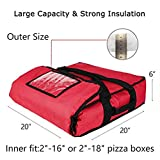 YOPRAL Insulated Pizza Bag, Thermal Pizza & Food