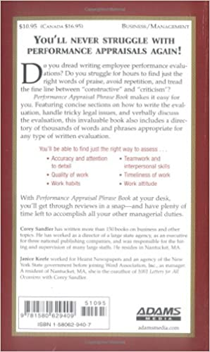 Performance Appraisal Phrase Book: The Best Words, Phrases, And