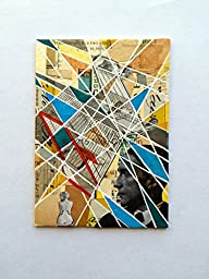 ACEO original collage mixed media abstract miniature modern art artist trading card