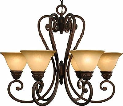 Volume Lighting Isabela 6-light Italian dusk chandelier