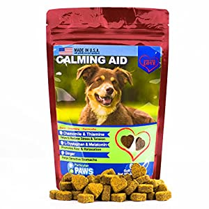 5. Calming Aid – 65 Soft Chews – Melatonin, L Tryptophan, Chamomile Flower, Passion Flower and Thiamine Mononitrate