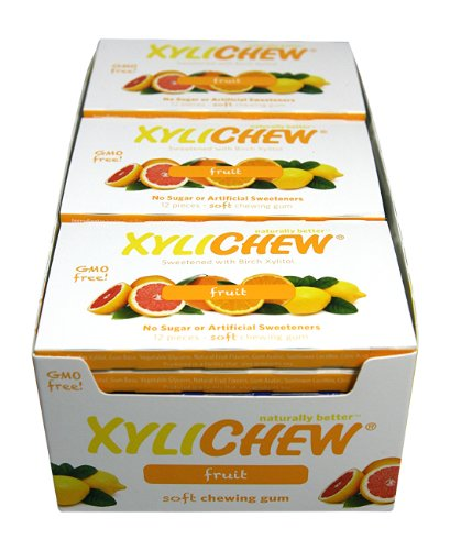 (Xylichew Naturally Better Gum, Fruit, 12 Count (Pack of 24))