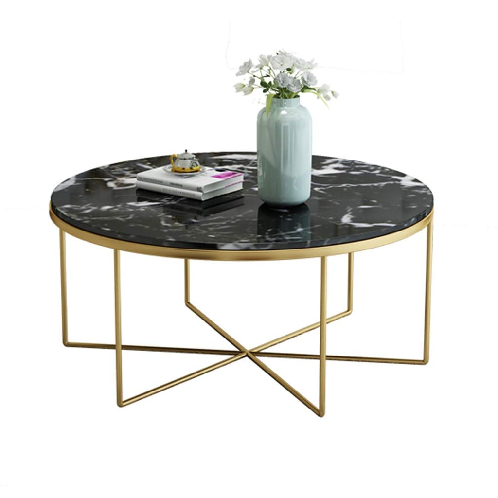 Y Leah Nordic Marble Coffee Table Wrought Iron Minimalist