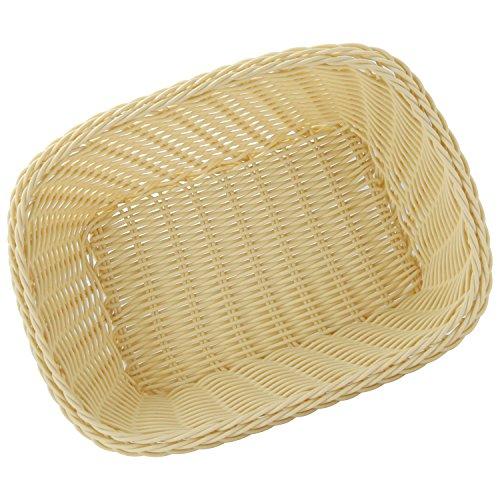2 Pack Rectangular Plastic Food Safe Bread Dinner Roll Basket Sets Waterproof Easy Cleaning Elegant Fruit Bowls Gift Basket