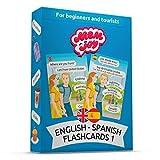 Memjoy Spanish Flashcards for Beginners - Learn Spanish Flash Cards for Kids, Teenagers & Adults - Learn Spanish Words, Vocabulary & Pronunciation - Speak Spanish for Tourists