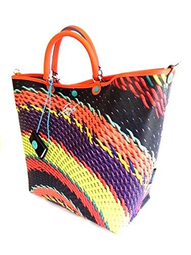 GABS - Bolso de asas para mujer multicolor INTRECCIO