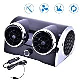 ditional Car Fan 12V, Electric Auto Cooling Fan with Double Head | Portable Motor Car Fan Low Noise Desktop Cooler for Vehicle Truck RV SUV Boat Usefulness