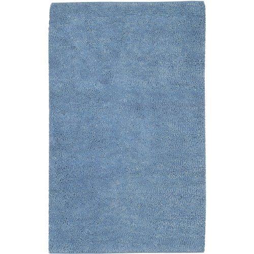 Surya Aros AROS-12 Shag Hand Woven 100% New Zealand Felted Wool Steel Blue 2' x 3' Accent (Rugs Aros Wool Shag Rug)